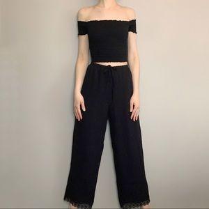 Lovely silk lounge pants 90s vintage.